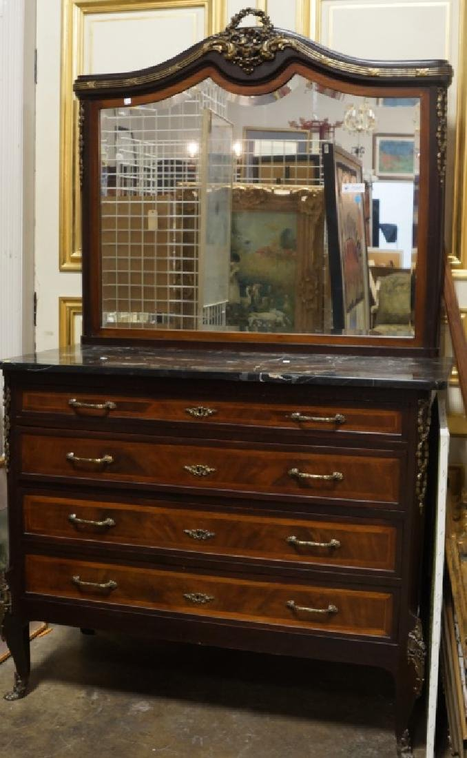 19th CENTURY FRENCH MARBLE TOP CHEST - 2
