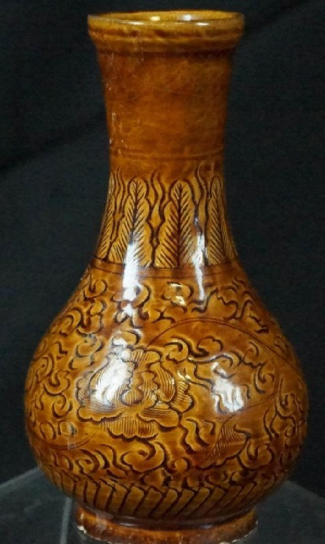 ANTIQUE CHINESE EARTHENWARE VASE