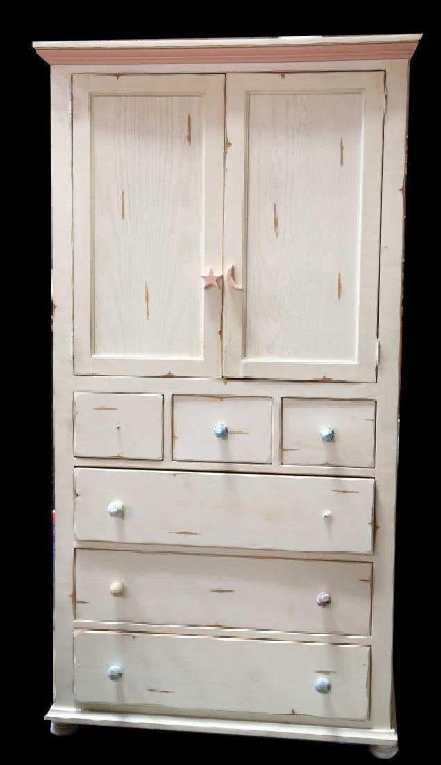 WHITE WASHED ARMOIRE