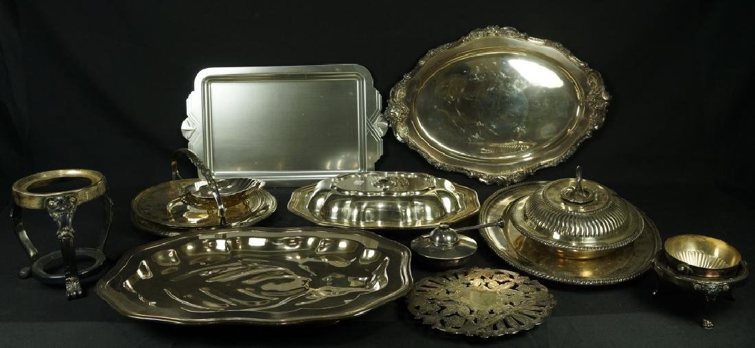 13 PIECE MIXED LOT OF SILVER PLATED PIECES