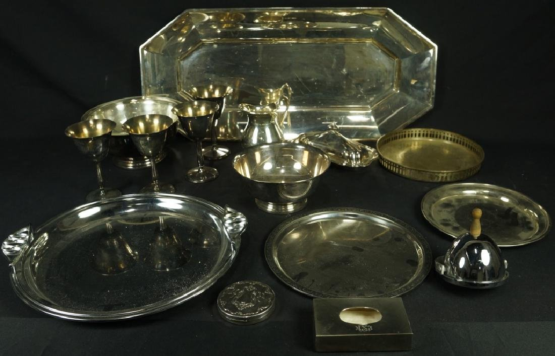 16 PIECE MIXED LOT OF SILVER PLATED PIECES