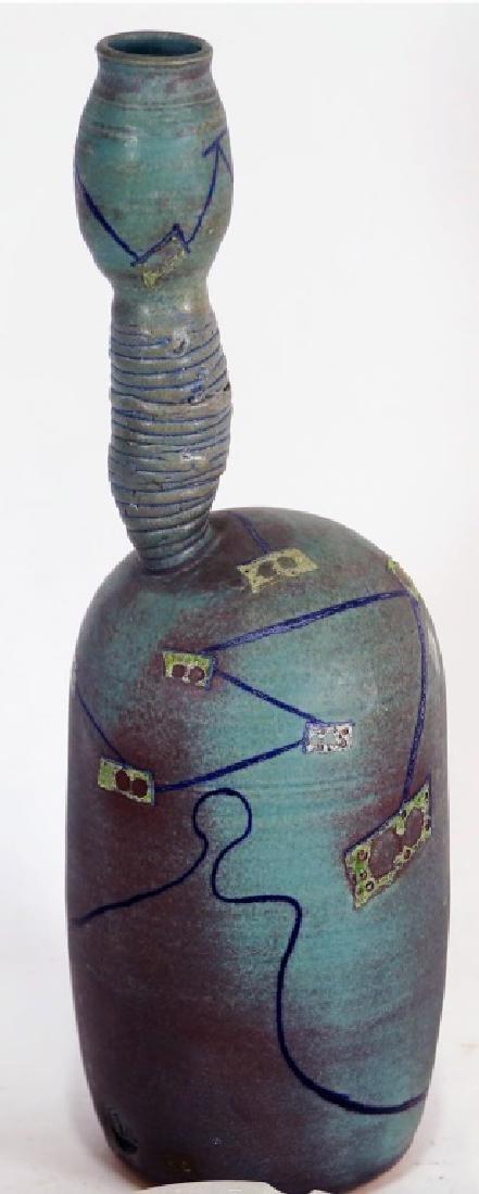 ONE-OF-A-KIND ART GLAZED CERAMIC VASE