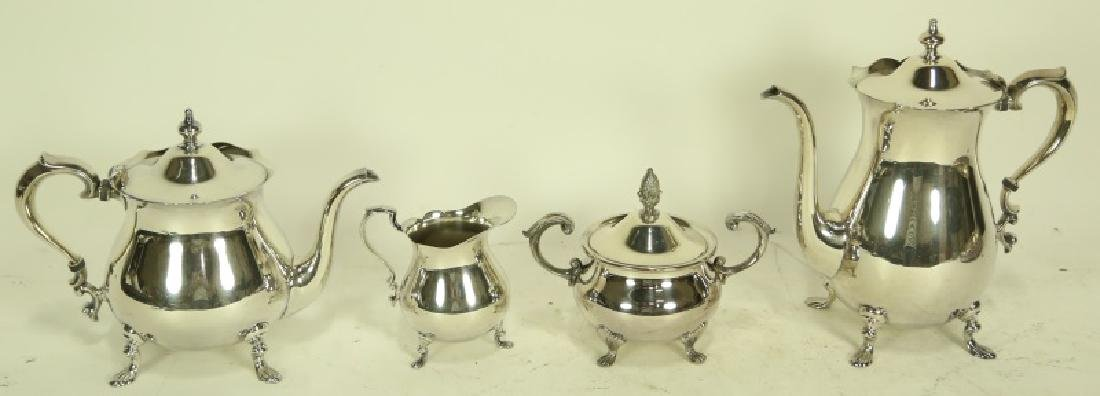 POOLE & COMPANY SILVERPLATE 4-PIECE SILVER SERVICE