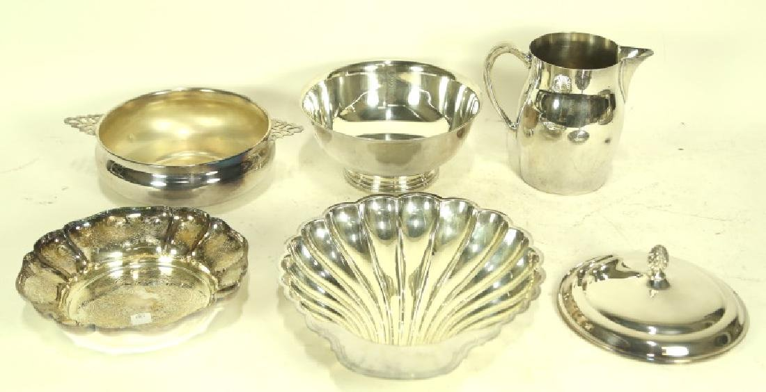 LOT OF SIX SILVERPLATED SERVING PIECES
