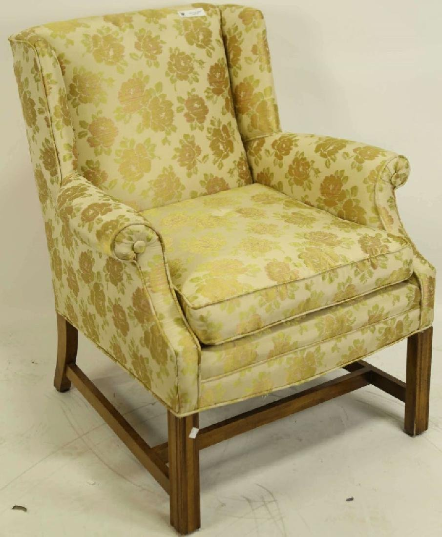 LOT OF TWO UPHOLSTERED CLUB CHAIRS