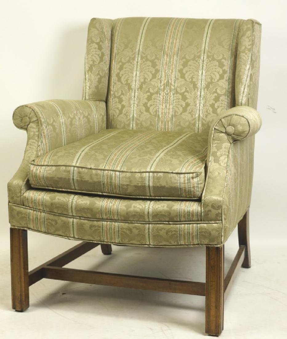 LOT OF TWO UPHOLSTERED CLUB CHAIRS - 2