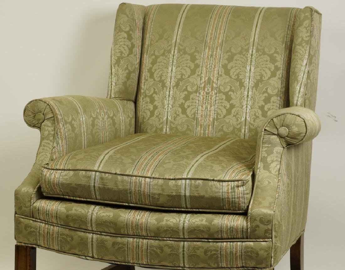 LOT OF TWO UPHOLSTERED CLUB CHAIRS - 3
