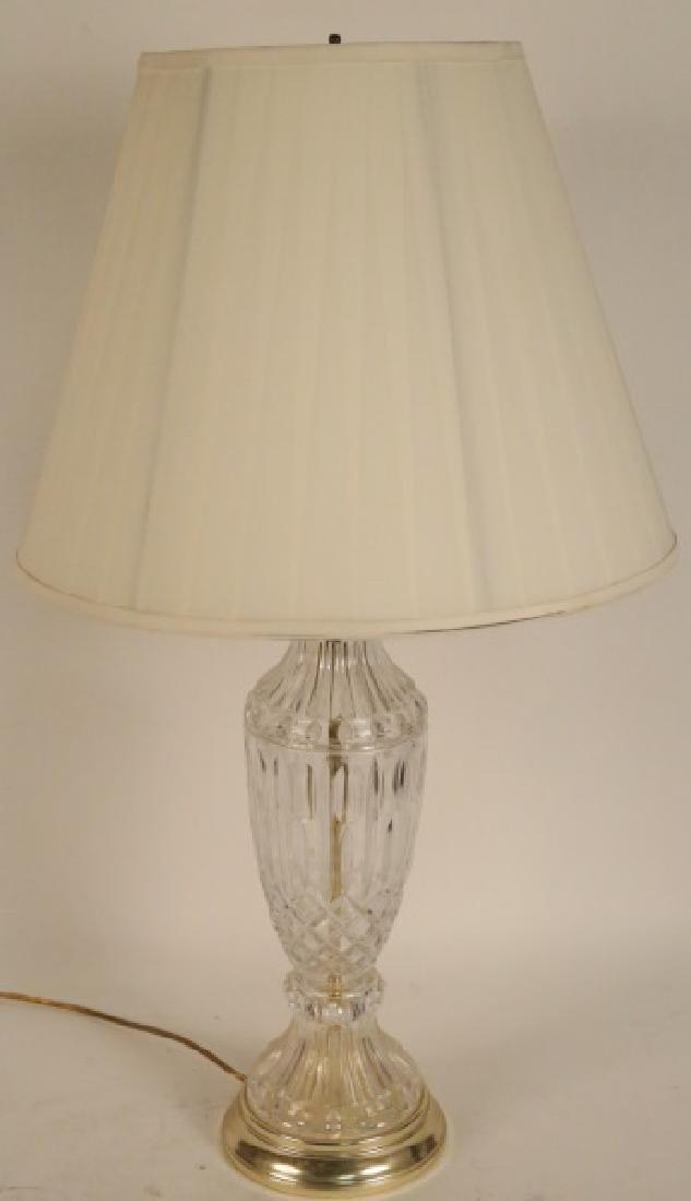 CUT GLASS VASE LAMP