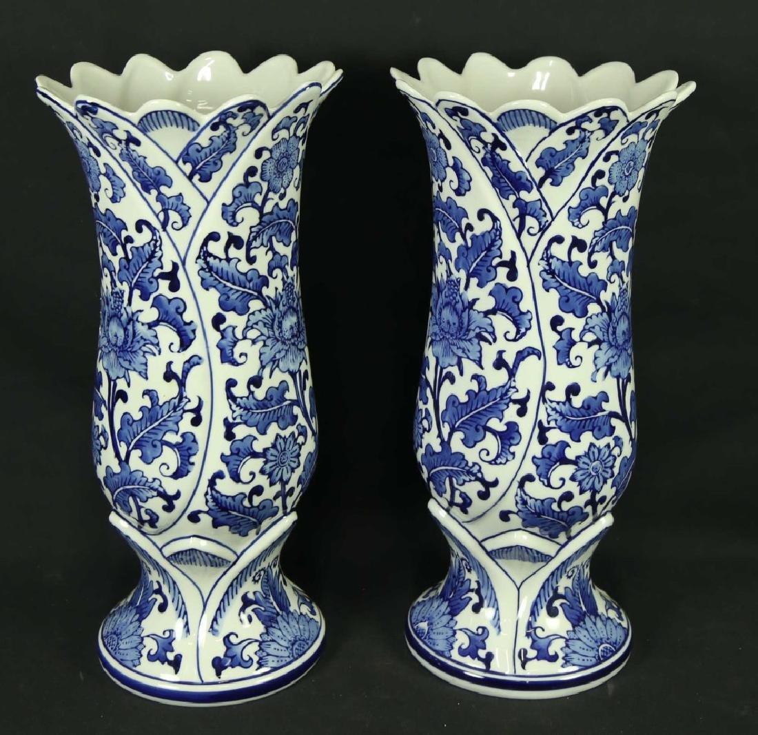 CHINESE BLUE & WHITE PORCELAIN VASES