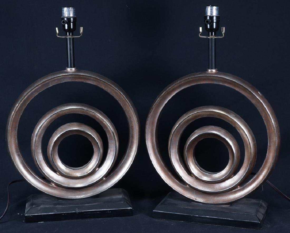 PAIR OF CONTEMPORARY STYLE LAMPS