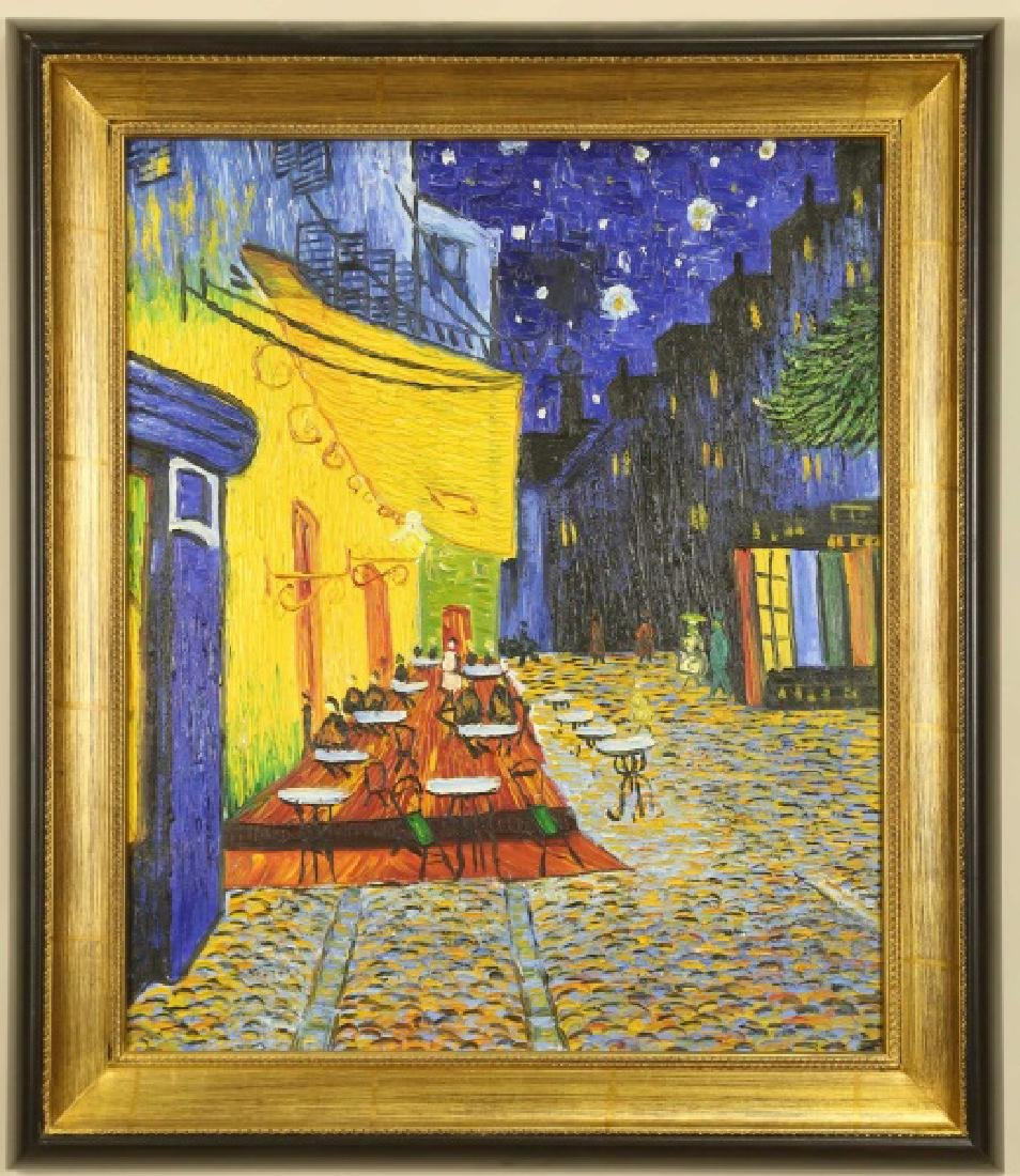 HOMAGE TO VAN GOGH OIL ON CANVAS PAINTING