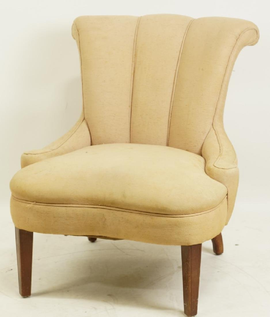 1940's CHANNEL BACK SIDE CHAIR