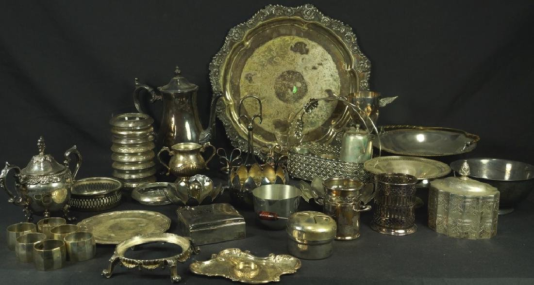 MIXED LOT OF 36 SILVER PLATED PIECES
