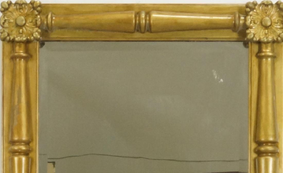 19th CENTURY AMERICAN FEDERAL GILT FRAMED MIRROR - 2