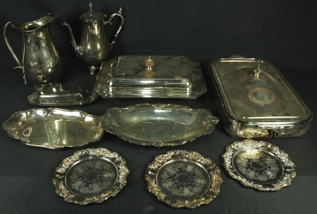 MIXED LOT OF 10 SILVER PLATED PIECES