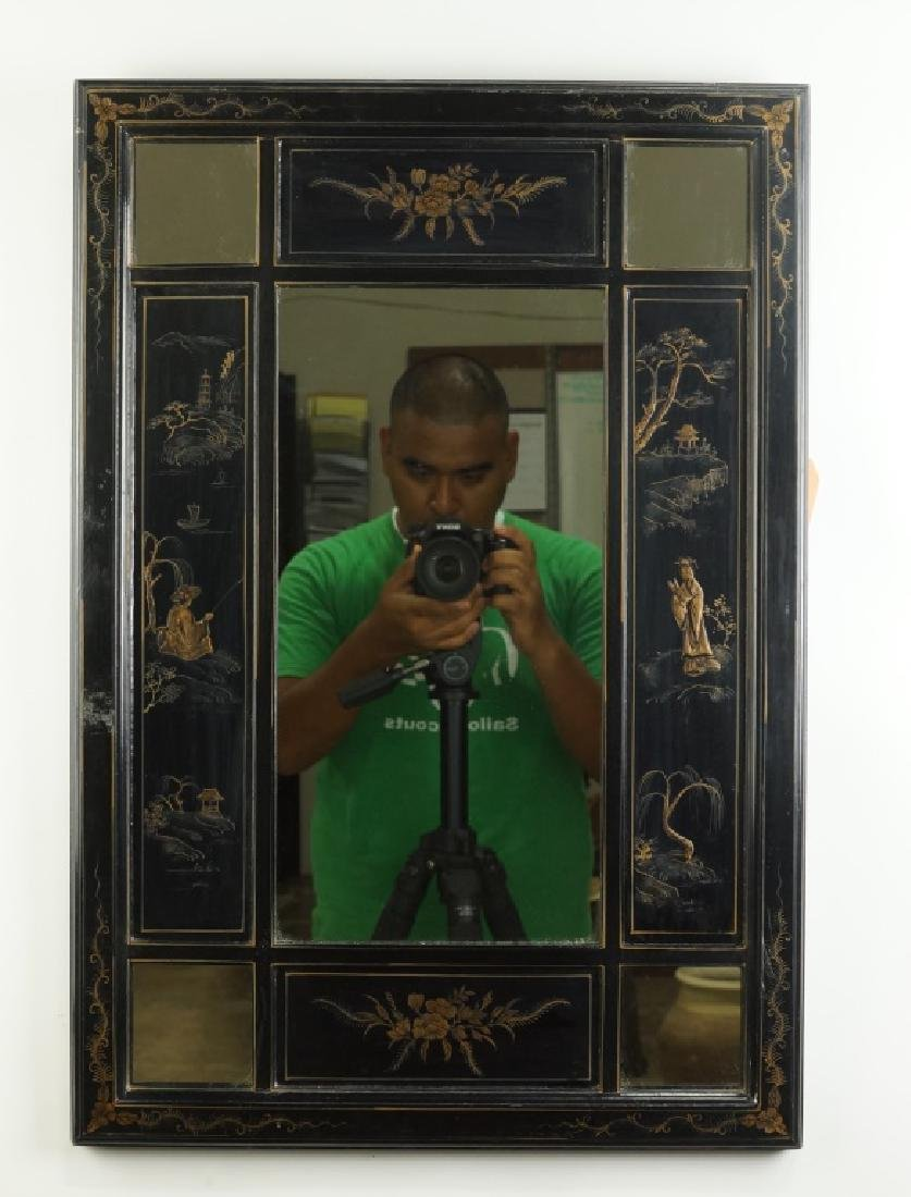 BLACK LACQUERE CHINESE MIRROR