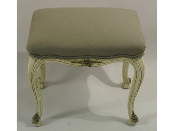 Antique country French painted bench.