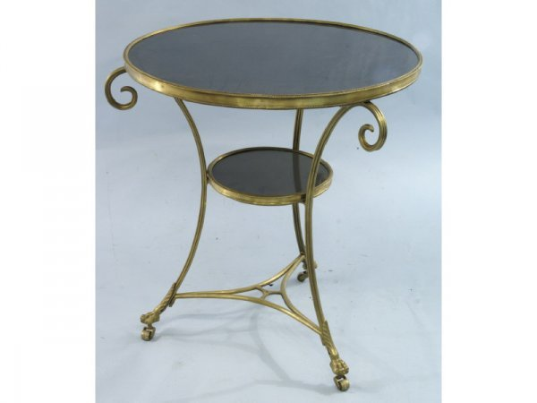 Bronze and marble reproduction Gueridon table. Siz