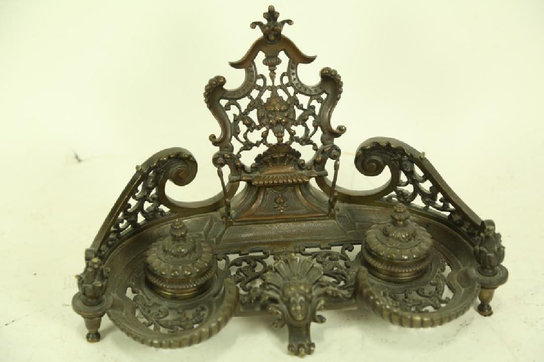 19th CENTURY FRENCH BRONZE INK WELL