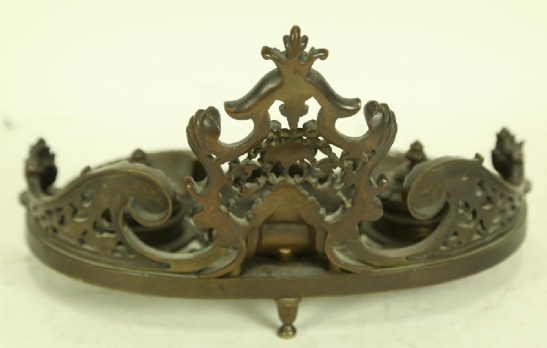 19th CENTURY FRENCH BRONZE INK WELL - 2