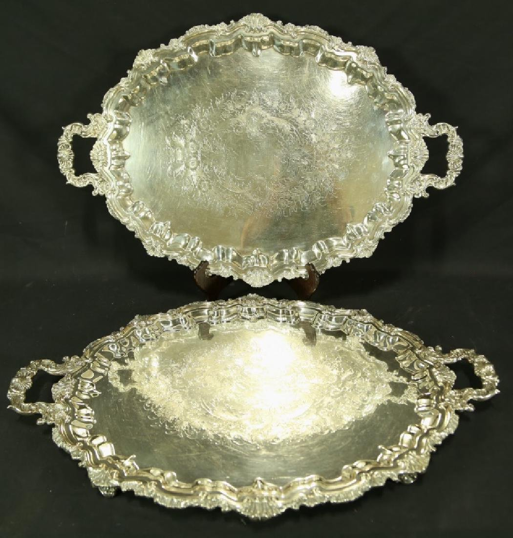 LOT OF TWO SILVER PLATED PIECES