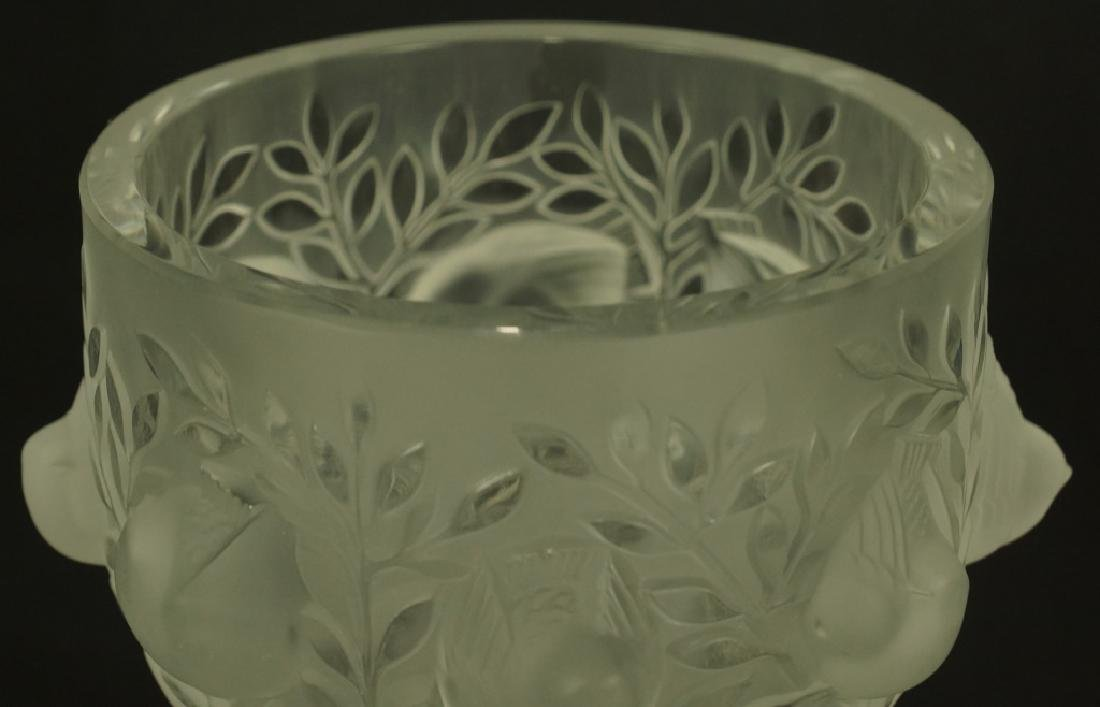 LALIQUE GOBLET & LOT OF TWO GLASS BIRDS - 2