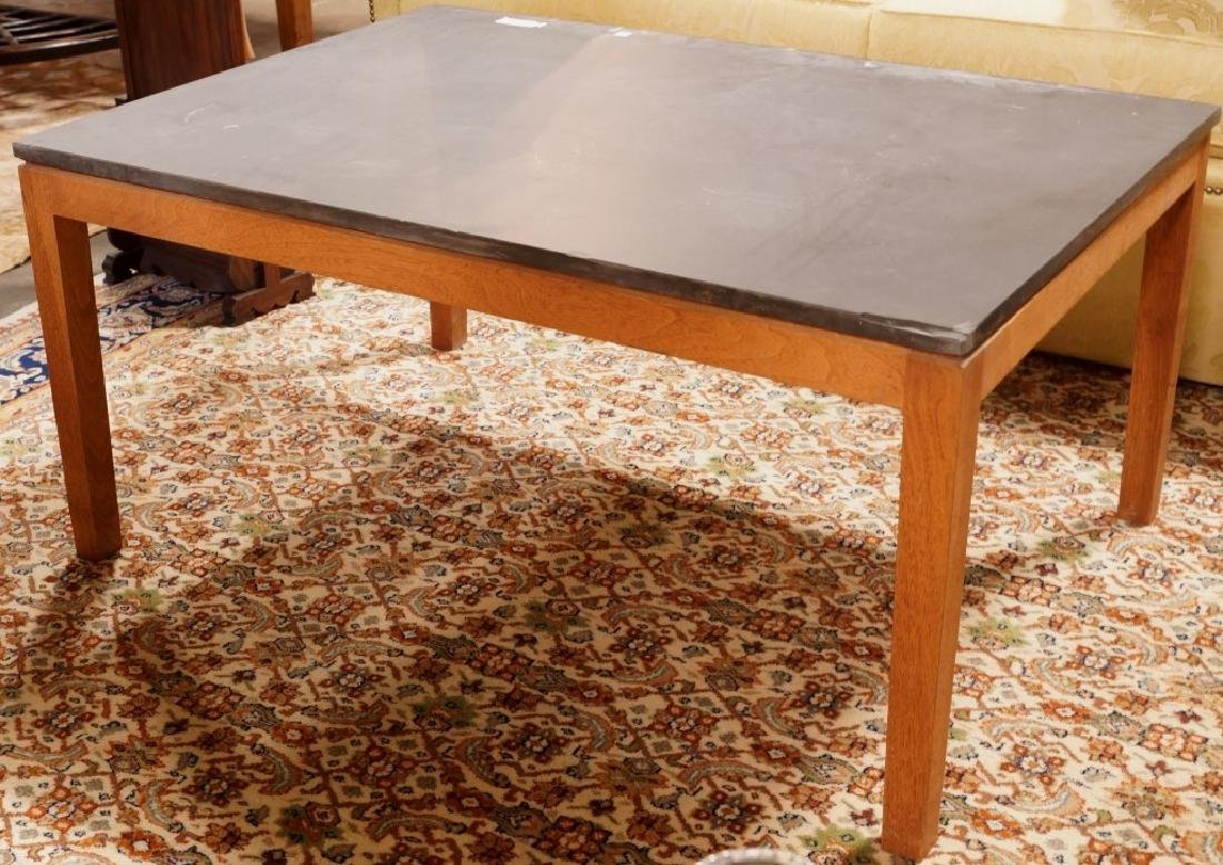 SLATE TOP COFFEE TABLE
