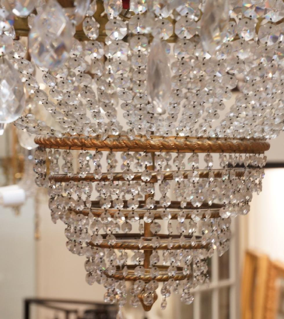 MONUMENTAL EMPIRE STYLE BRASS & CRYSTAL CHANDELIER - 3