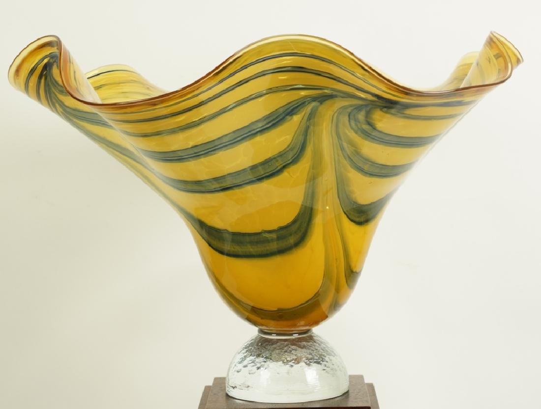 ART GLASS FLUTED BOWL