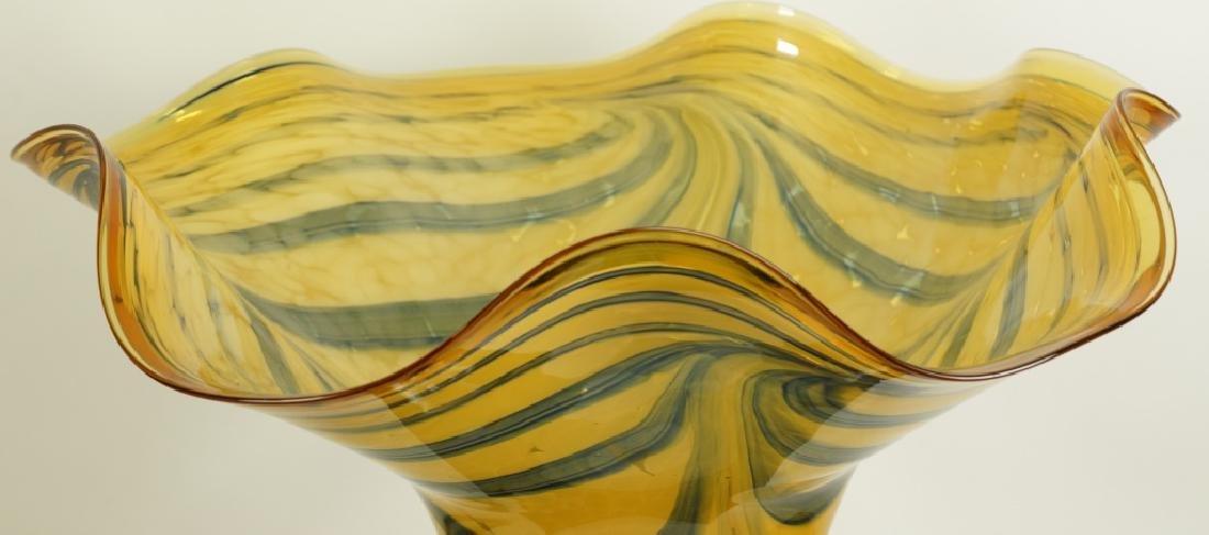 ART GLASS FLUTED BOWL - 2