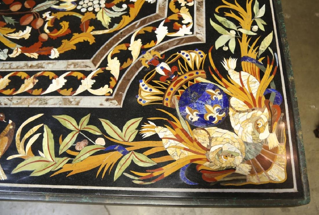CUSTOM MADE IN VENICE ITALIAN PIETRA DURA INLAID TABLE - 10