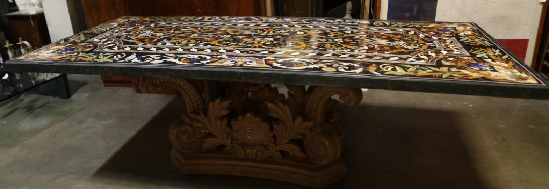 CUSTOM MADE IN VENICE ITALIAN PIETRA DURA INLAID TABLE