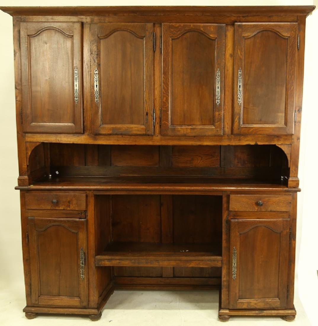 19th CENTURY FRENCH FRUITWOOD HUTCH