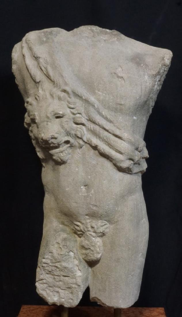 STONE CARVED ROMAN STYLE TORSO