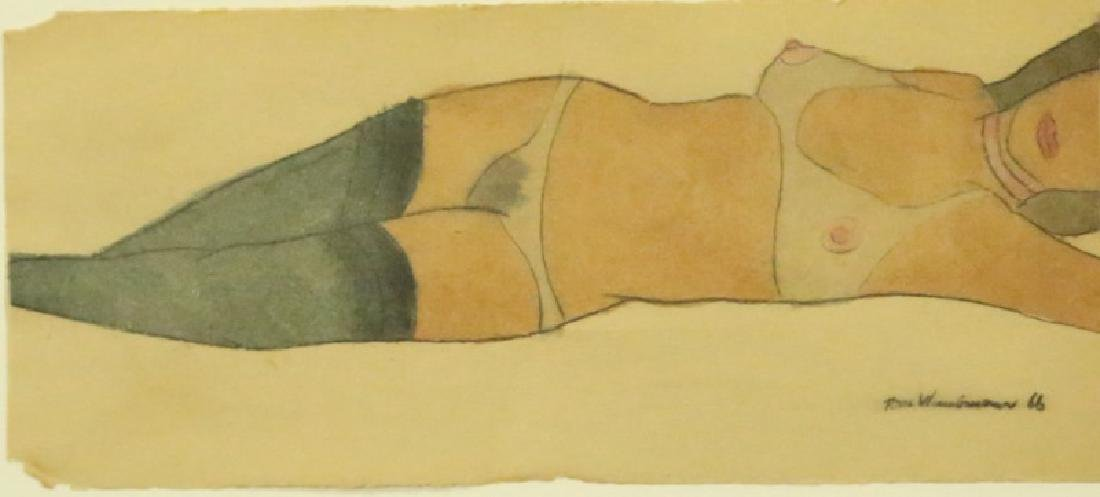 """ATTRIBUTED TO TOM WESSELMANN """"UNKNOWN"""" FEMALE NUDE"""