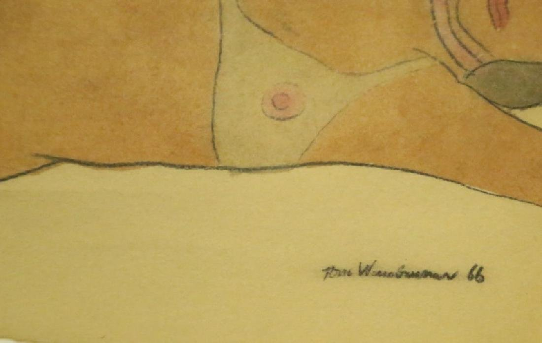 """ATTRIBUTED TO TOM WESSELMANN """"UNKNOWN"""" FEMALE NUDE - 3"""
