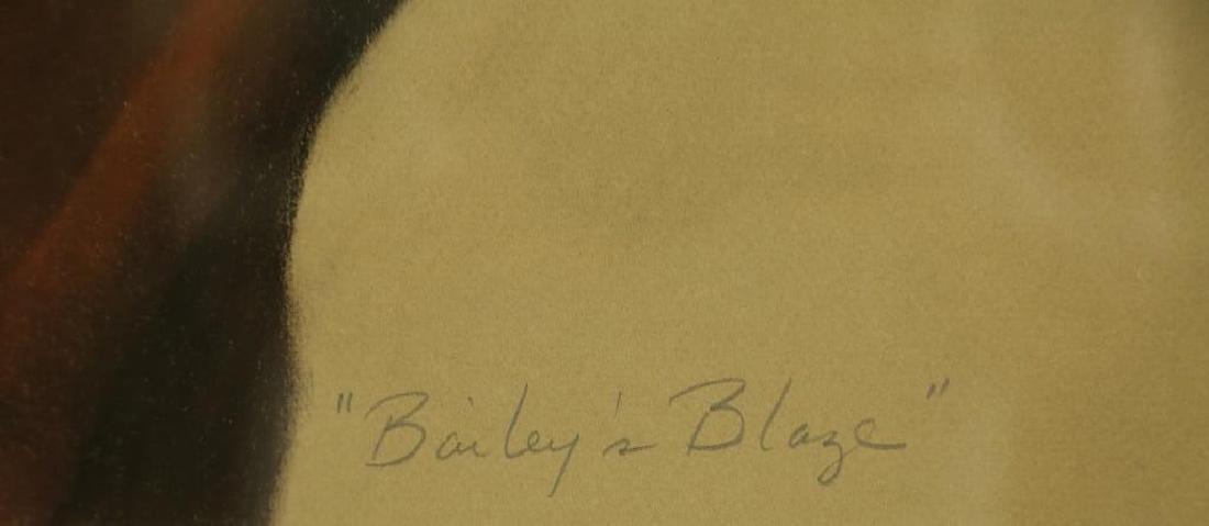 """GRIFFIN """"BAILEY'S BLAZE"""" ORIGINAL WATERCOLOR - 4"""