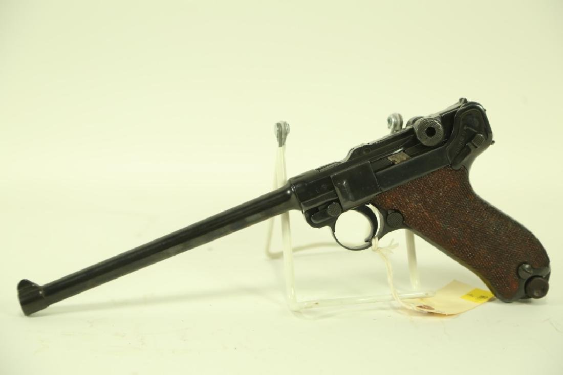 LUGER 1906 9 MM PISTOL. MADE 19028, 1ST MILITARY C