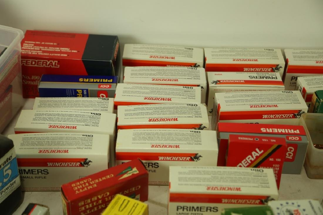 AMMO CASINGS & AMMO POWDER BOX LOT - 4
