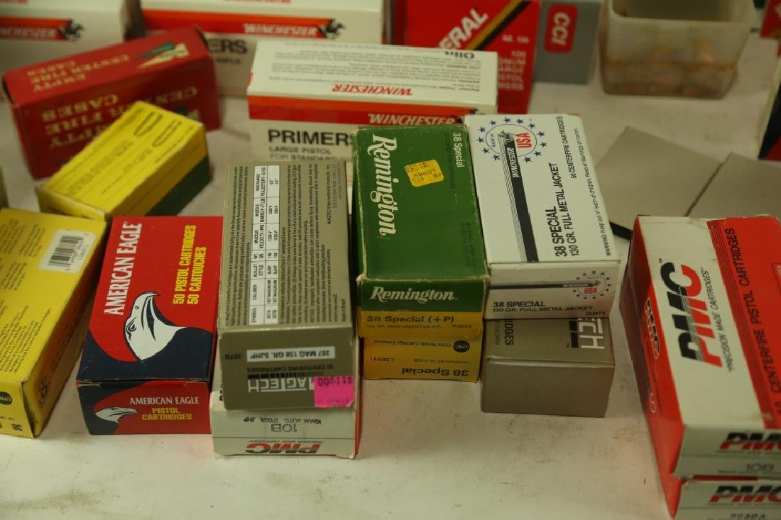 AMMO CASINGS & AMMO POWDER BOX LOT - 5
