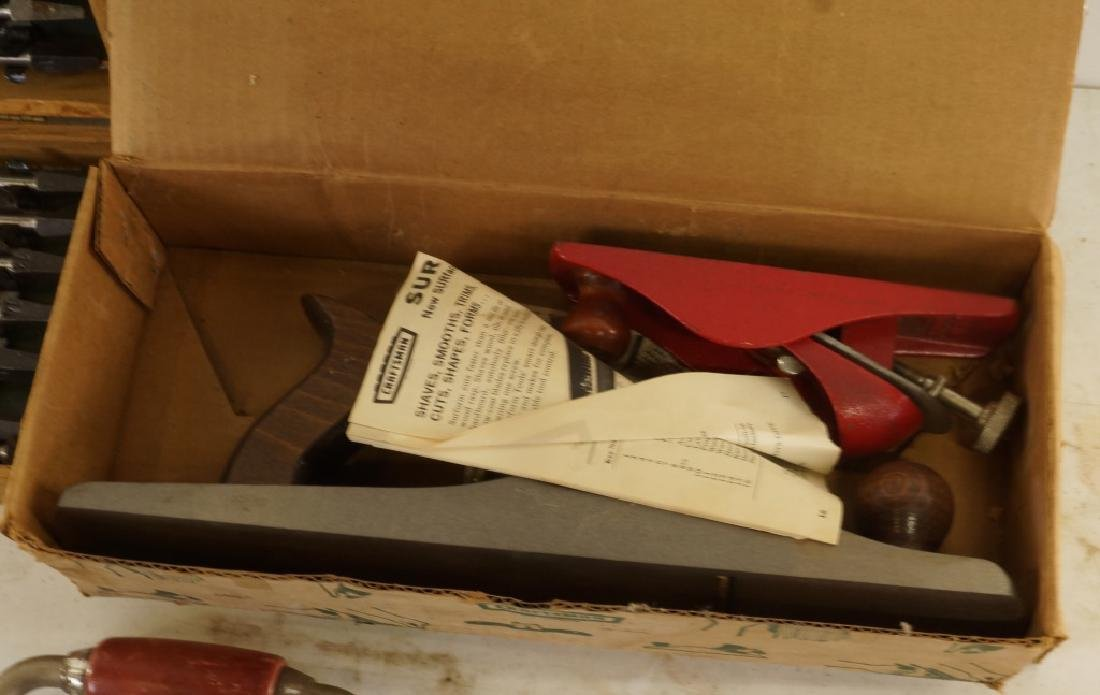 HAND DRILL & WOOD PLANE BOX LOT - 3
