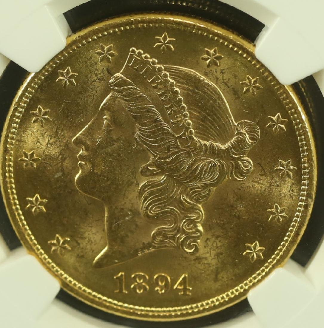 1894 LIBERTY $20 GOLD COIN