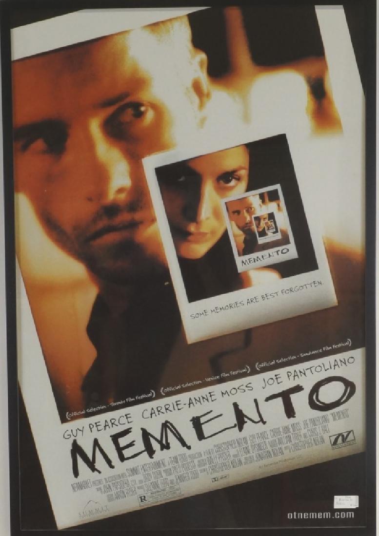 """FRAMED MOVIE POSTER """"MEMENTO"""""""