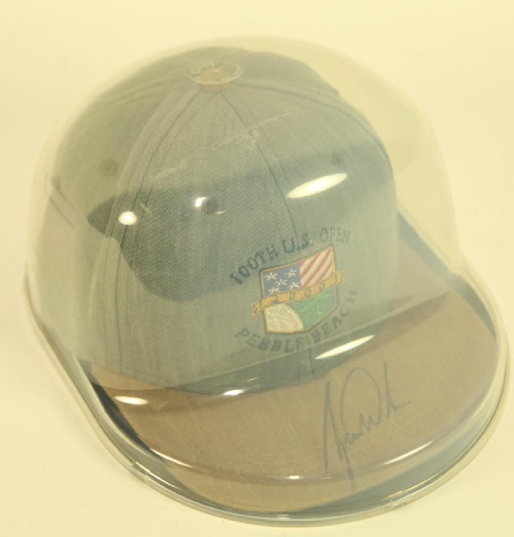 US OPEN HAT SIGNED TIGER WOODS IN PRESENTATION BOX - 2