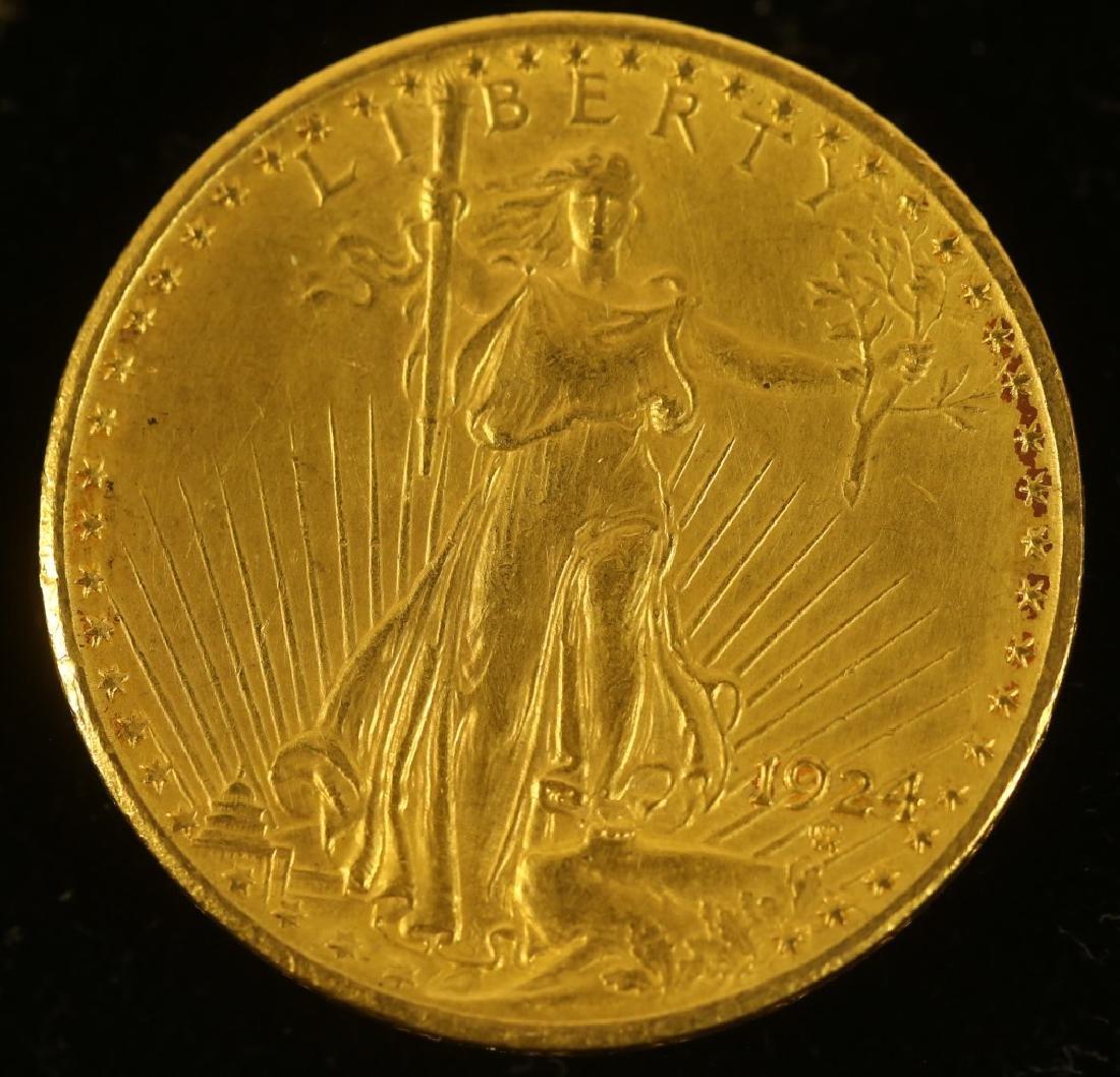 1924 $20 ST. GAUDENS COIN