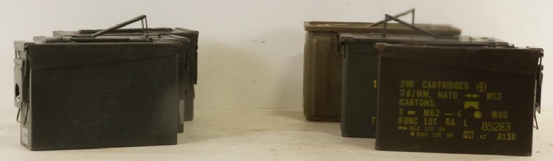 MIXED SET OF SIX EMPTY AMMUNITION BOXES