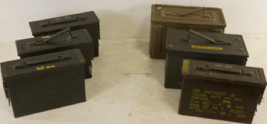 MIXED SET OF SIX EMPTY AMMUNITION BOXES - 2