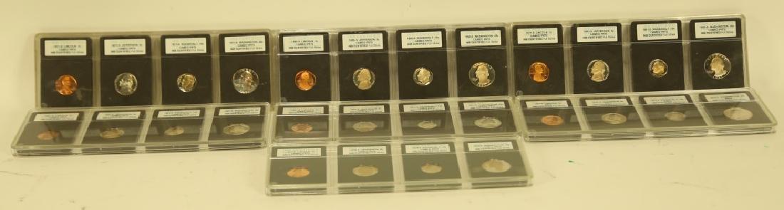 SET OF SEVEN CAMEO PR70 COLLECTOR COINS