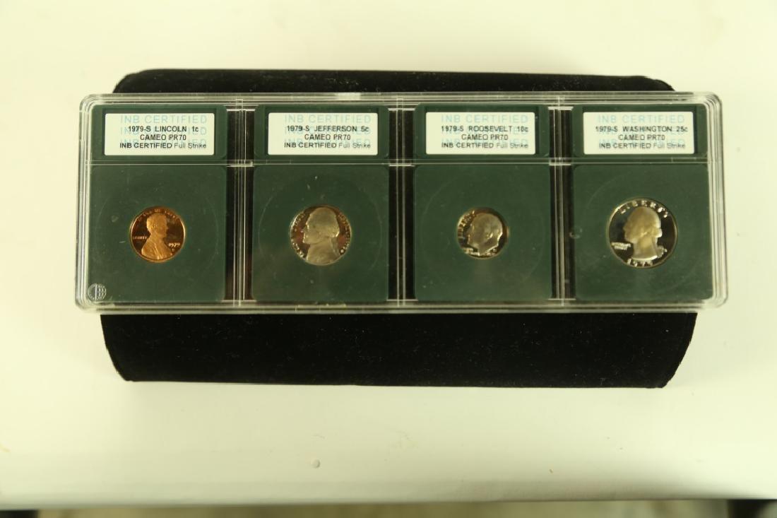 SET OF SEVEN CAMEO PR70 COLLECTOR COINS - 2