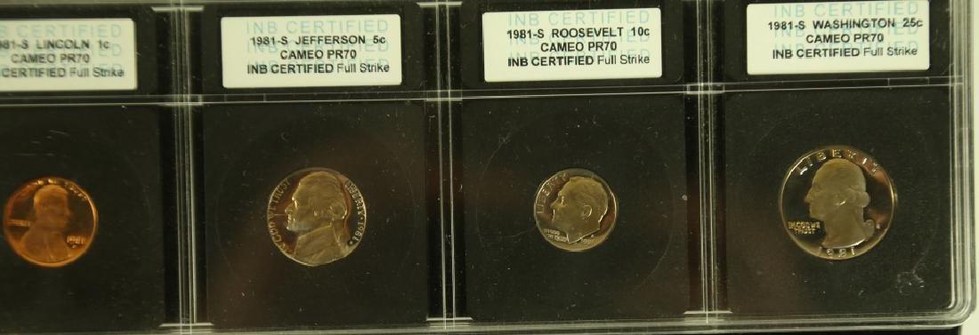 SET OF SEVEN CAMEO PR70 COLLECTOR COINS - 9